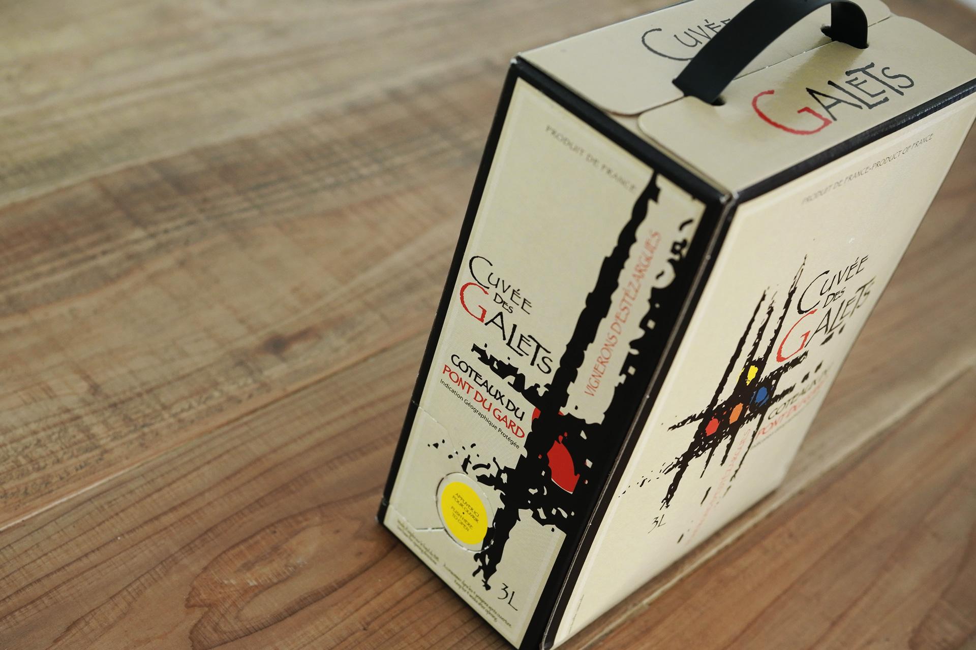 自然派・ビオワイン キュヴェ デ ガレ エステザルグ du Gard - Cuvée des Galets d'Estezargues バッグインボックス