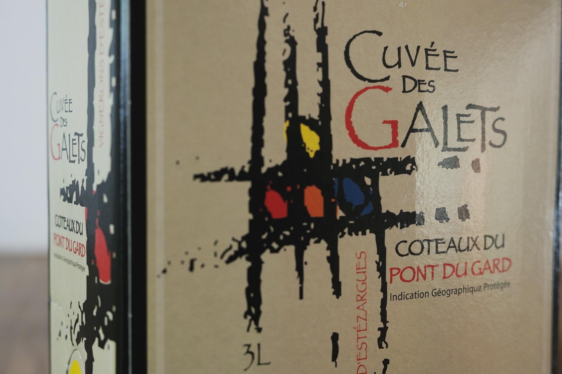 自然派ワイン・ビオワイン キュヴェ デ ガレ エステザルグ du Gard - Cuvée des Galets d'Estezargues ラベル