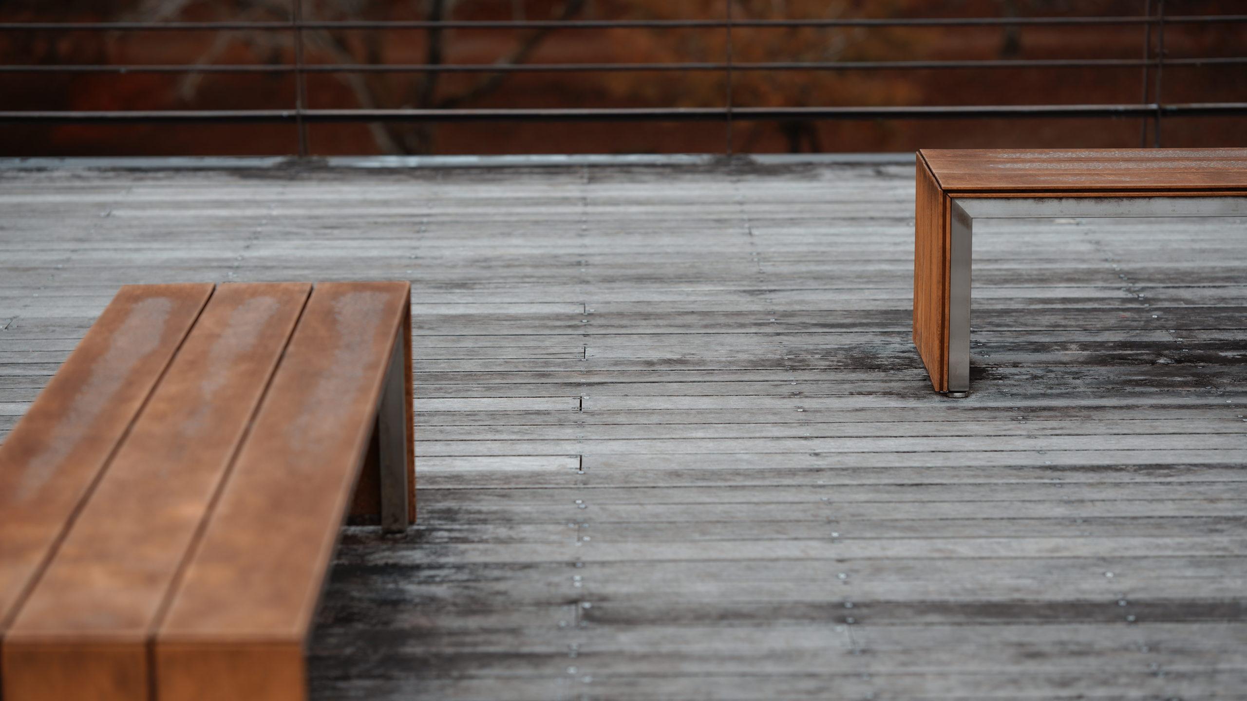 曽木の滝公園のベンチ