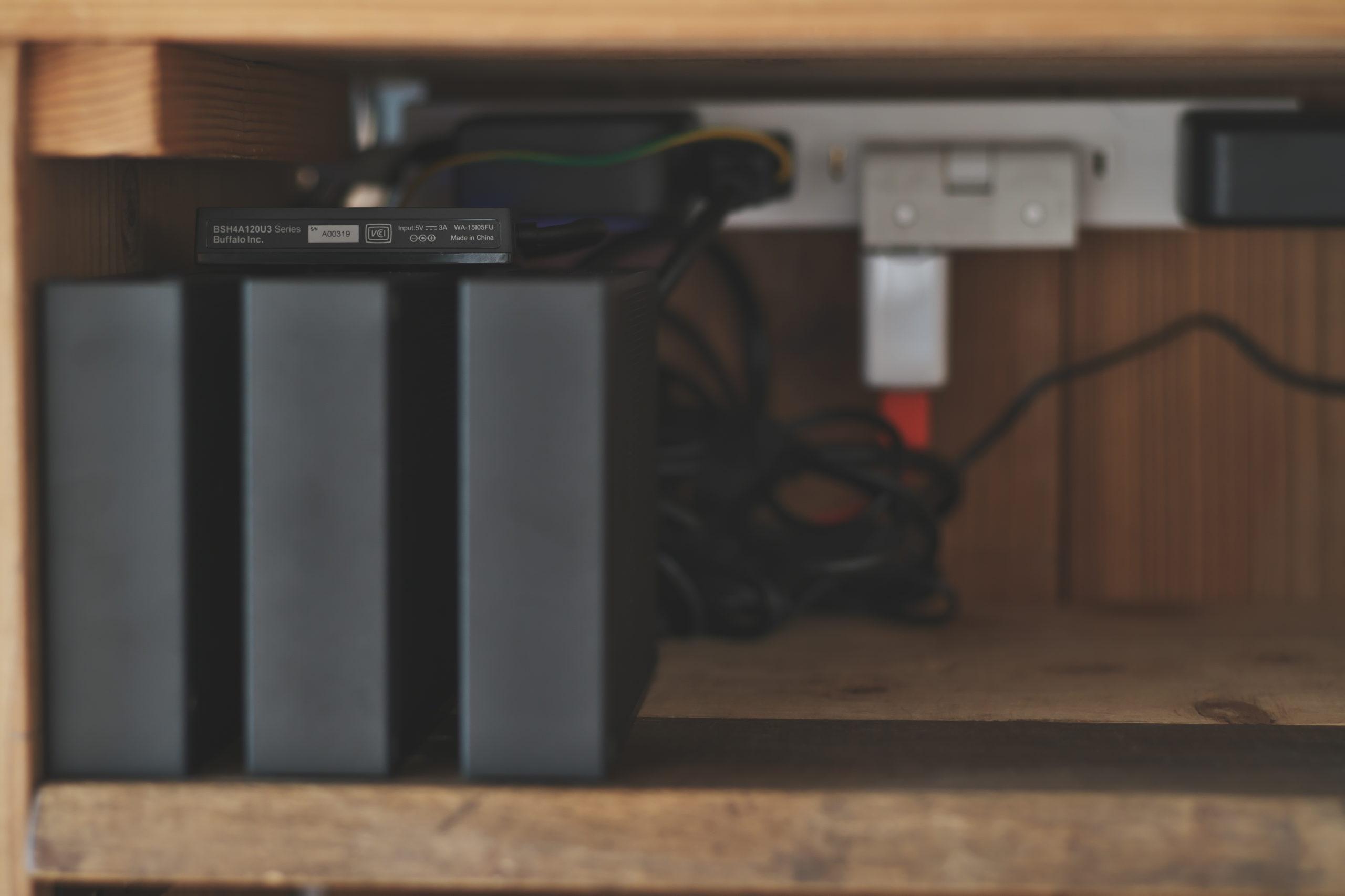 IO DATA 外付けHDD 6TB/2TB BUFFALO USB3.0 BSH4A125U3BK