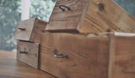 古材仕上げの収納箱をDIY – オーディオ棚