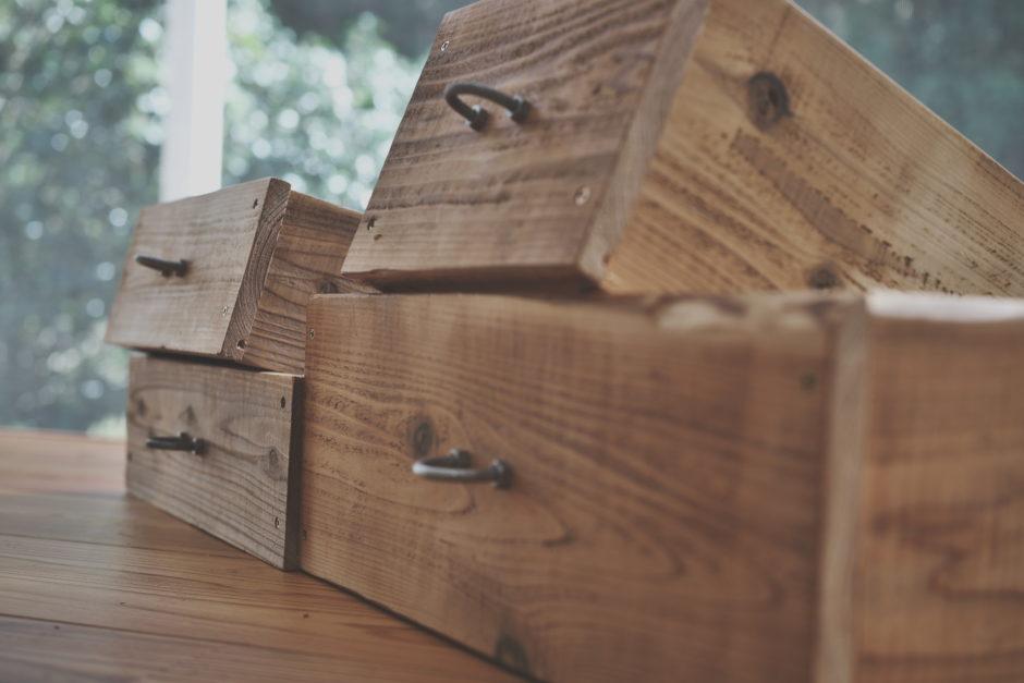 古材仕上げの収納箱(ボックス)DIY