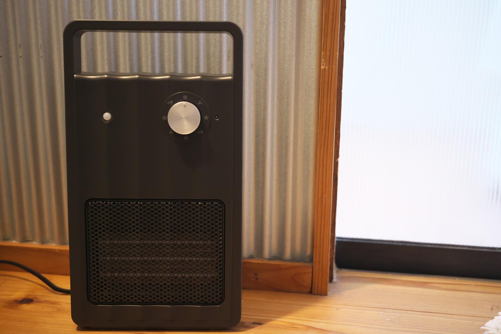省スペース:人感センサー付セラミックファンヒーター「NAFCO W-01」