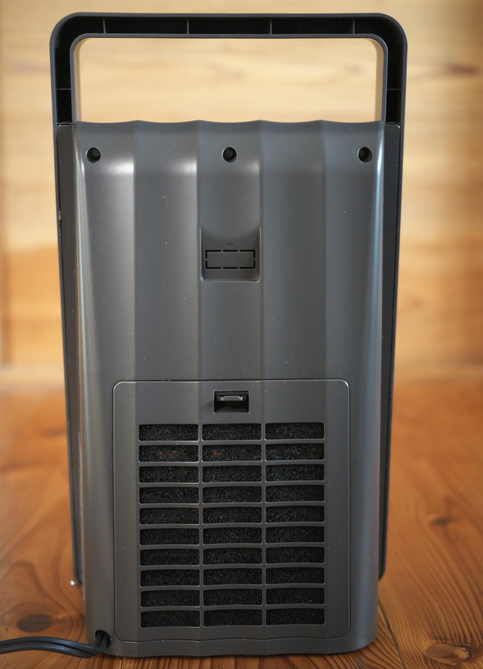 背面部:人感センサー付セラミックファンヒーター「NAFCO W-01」