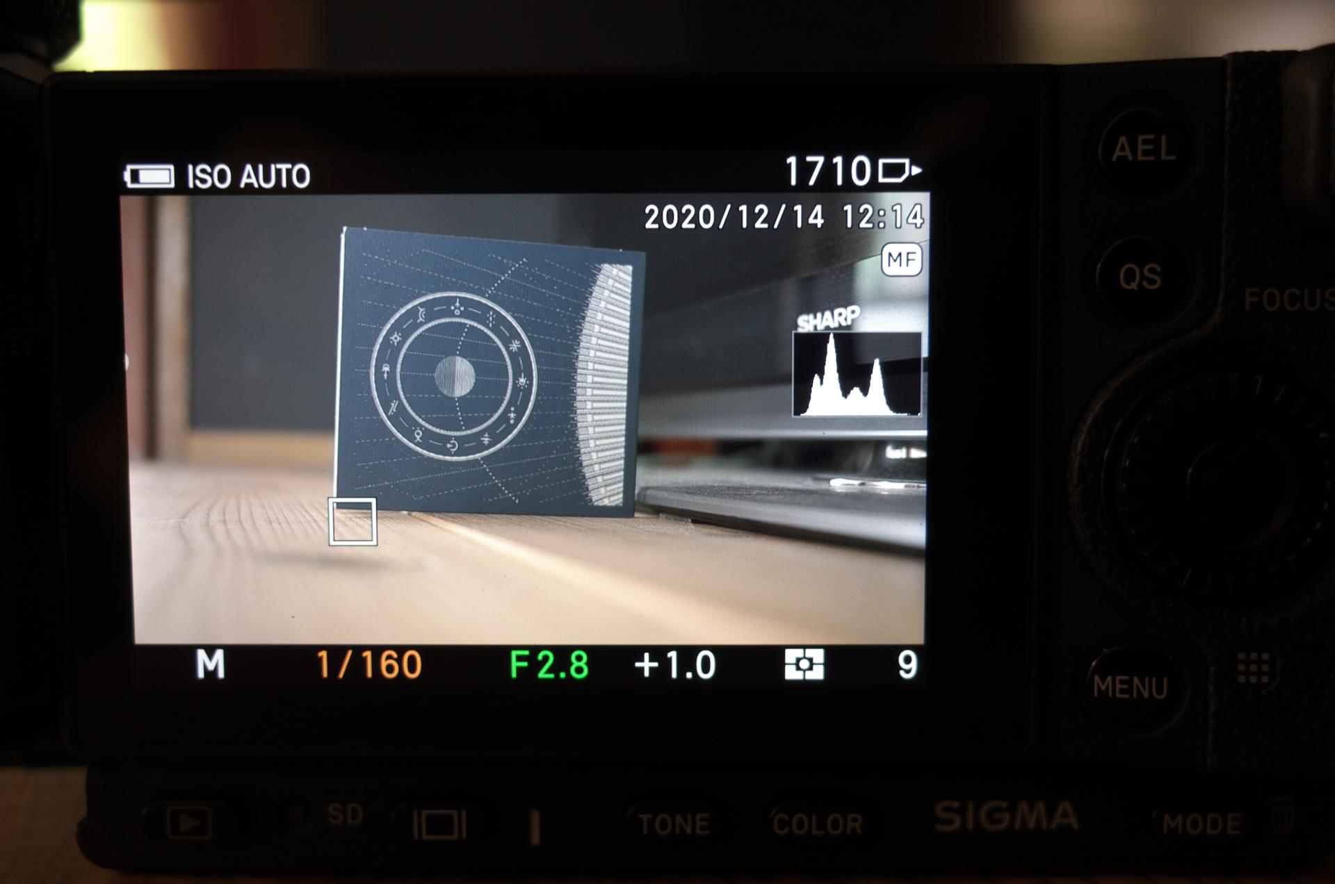 デジタルカメラのヒストグラム