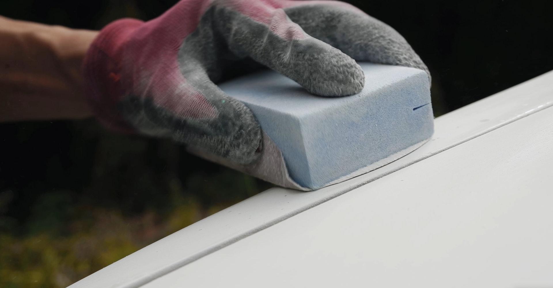 セレナをDIY全塗装 クリアー剥がれのサンディング・足付け|車塗装