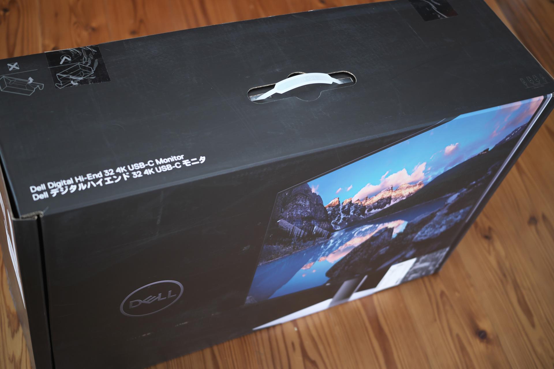 Dellモニター元箱「U3219Q 31.5インチ 4K HDR USBーC / IPS」