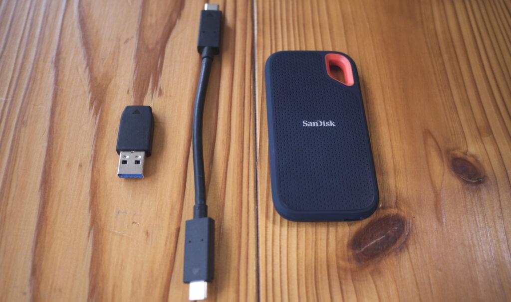 外付けSUNDISK ポータブルSSD 2TB