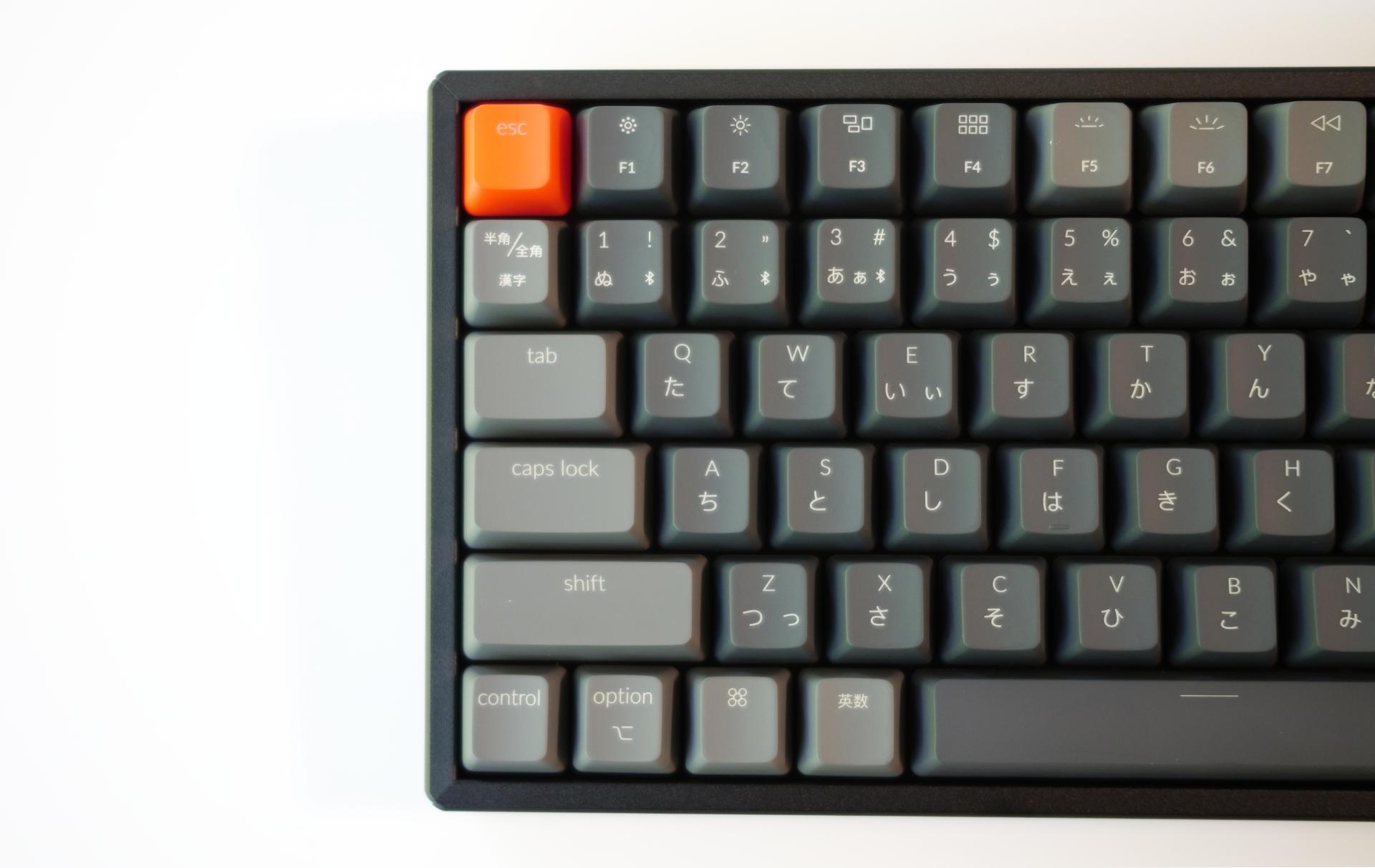 Keychron K2 日本語配列メカニカルキーボード左側キー配列