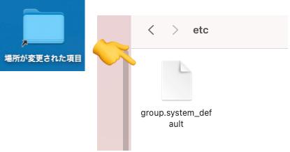 group.system_defaultとは?|Mac OS 場所が変更された項目
